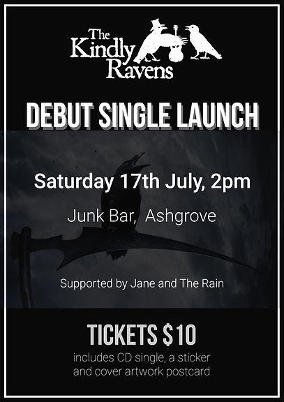 The Kindly Ravens Single Launch Poster - Junk Bar - July 17 - 2021.jpg