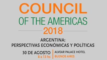 LA CÁMARA ARGENTINA DE COMERCIO Y SERVICIOS ORGANIZA EL COUNCIL OF THE AMERICAS