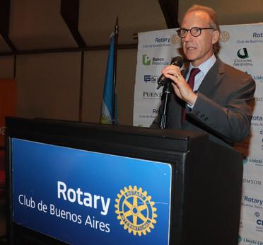 CARLOS ROSENKRANTZ EN EL CICLO DE CONFERENCIAS DEL ROTARY CLUB DE BUENOS AIRES