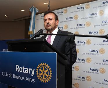 MARIO QUINTANA EN EL CICLO DE CONFERENCIAS DEL ROTARY CLUB DE BUENOS AIRES