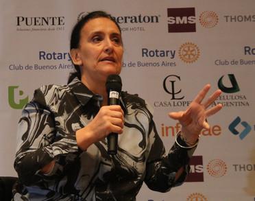 GABRIELA MICHETTI EN EL CICLO DE CONFERENCIAS DEL ROTARY CLUB DE BUENOS AIRES
