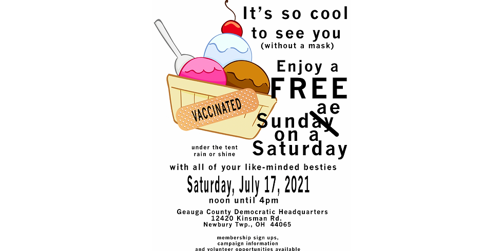 "Enjoy a free ice cream sundae under the ""big top"""