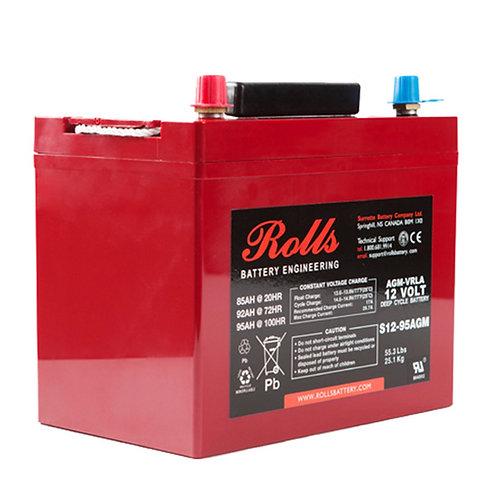 Rolls 12V 85 Ah AGM Deep-Cycle Lead Acid Battery, S12-95AGM