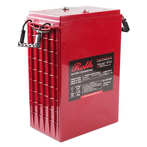 Rolls 2V 1150 Ah AGM Deep-Cycle Lead Acid Battery, S2-1275AGM