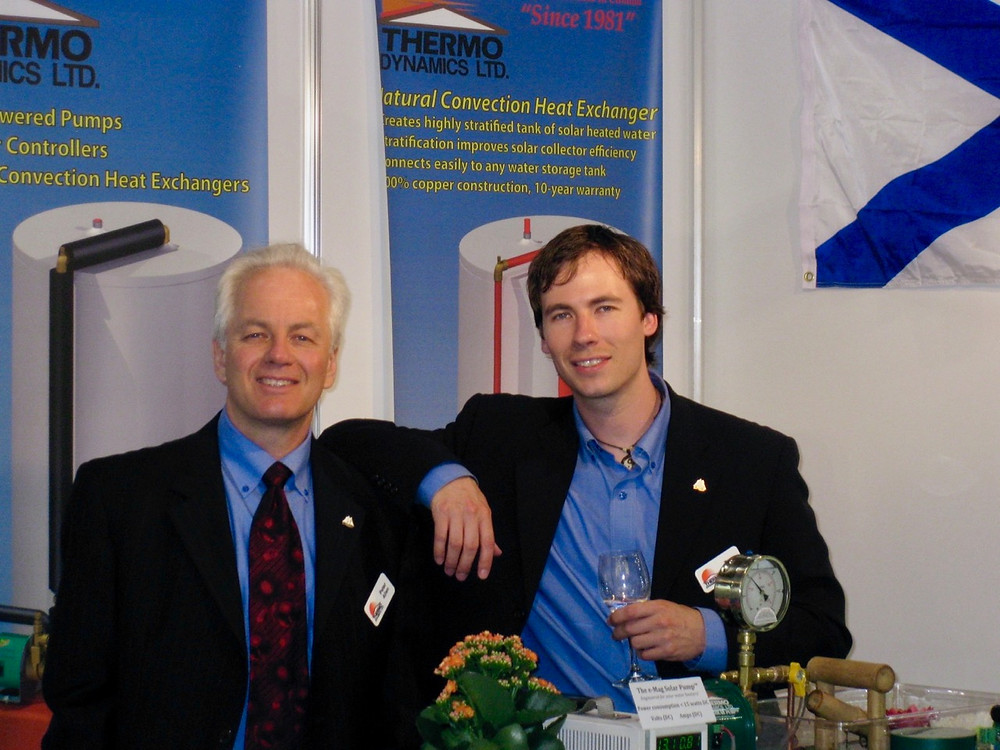 Exhibiting solar pumps and solar systems at Intersolar Europe Munich 2011 with Thermo Dynamics Ltd.