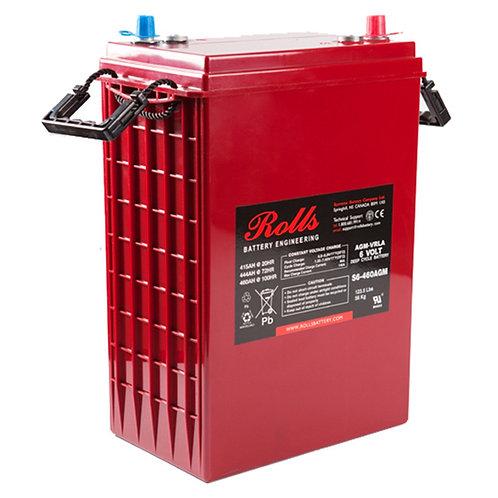 Rolls 6V 415 Ah AGM Deep-Cycle Lead Acid Battery, S6-460AGM