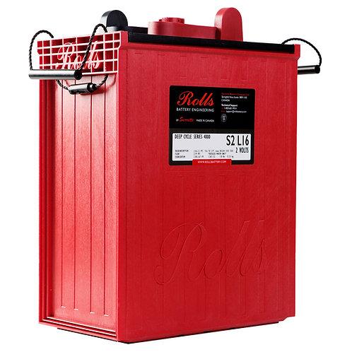 Rolls 2V 1169 Ah Deep-Cycle Flooded Lead Acid Battery, S2 L16