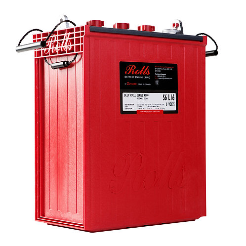 Rolls 6V 390 to 487 Ah Deep-Cycle Flooded Lead Acid Battery, S6 L16