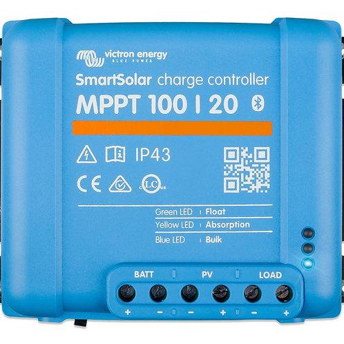 Victron SmartSolar MPPT 100/20 Charge Controller, 12/24V