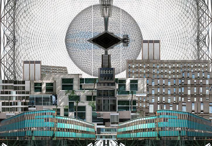 Sun-Net Montreal, 2008 (detail) by Chung Chak