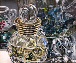 Perfume Bottle and Jar of Marbles