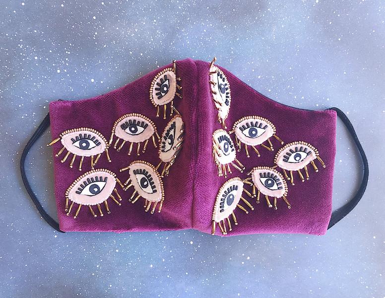 Beaded Eye Mask