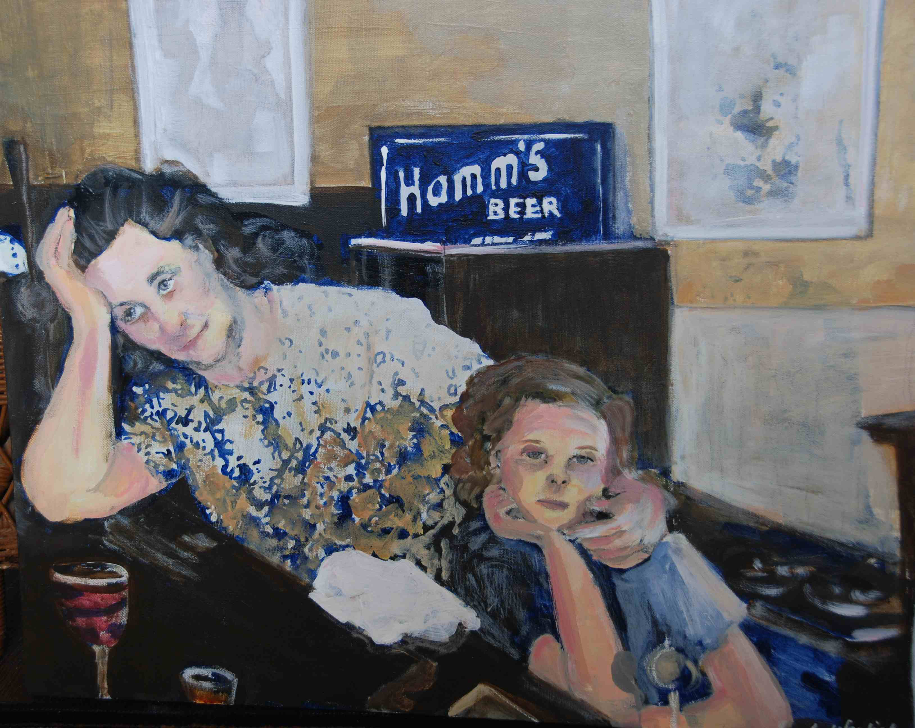 The Barmaid and Her Daughter