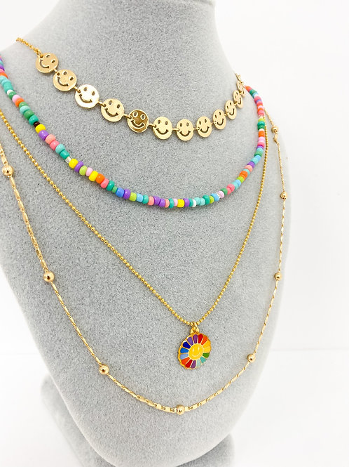 Smiley Necklace stack