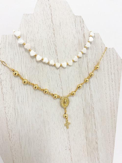 Heart Nacre Necklace