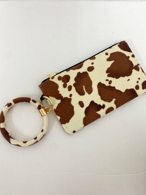Cow print clutch