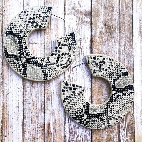 Snake Print Hoop