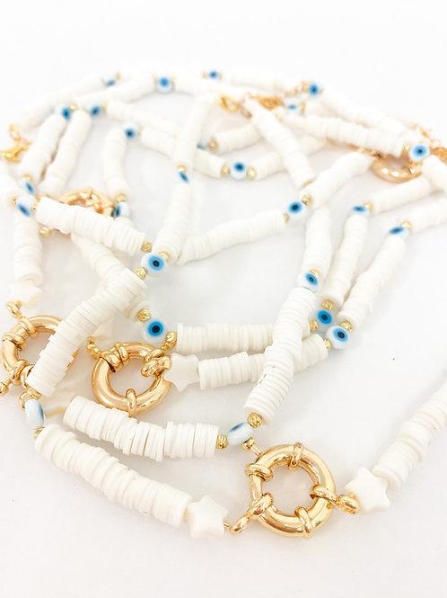 Greek eye necklace