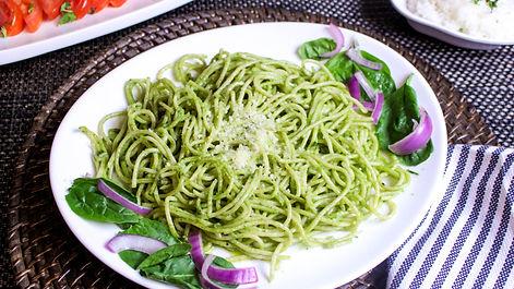 Green Spaghetti, a dish at Pisco Peruvian Cuisine