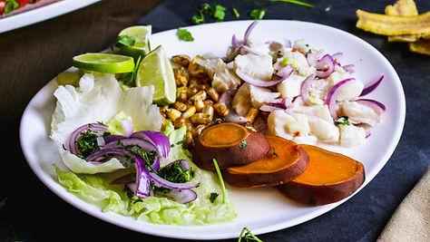Ceviche, a dish at Pisco Peruvian Cuisine