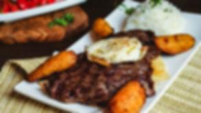Poor Man Churrasco, a dish at Pisco Peruvian Cuisine