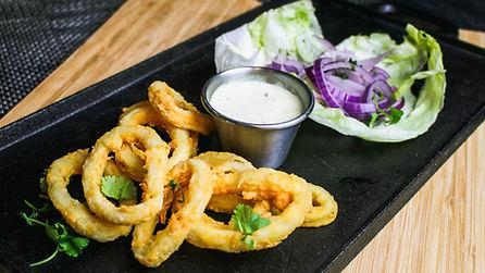 Fried Calamari, a dish at Pisco Peruvian Cuisine