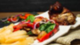 Pollo a la brasa, a dish at Pisco Peruvian Cuisine