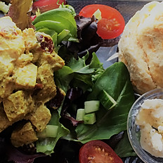 Coronation Chicken Salad with choice of side