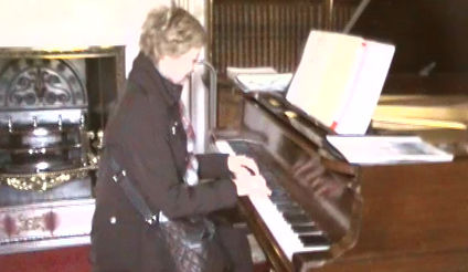 Playing the piano at Chatsworth House