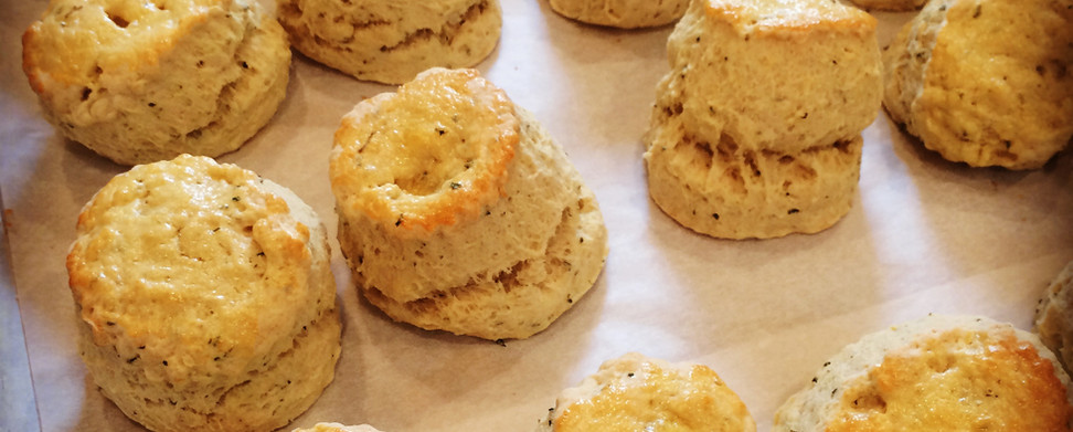 Scones hot from the oven