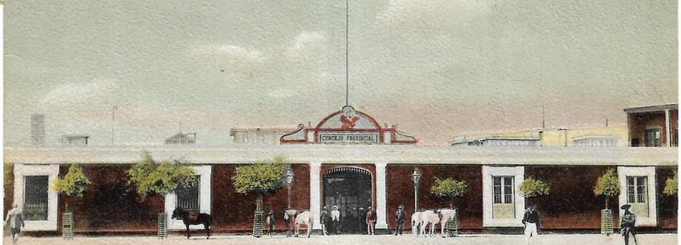 Consejo Municipal 1905. Postal de Eduardo Polack