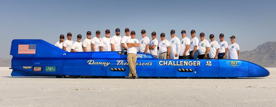Les voitures de records de vitesse Challenger 1 & Challenger 2 ou l'histoire de la famille Thompson