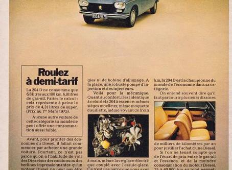 Peugeot 204 Diesel : 1er petit moteur Diesel au monde