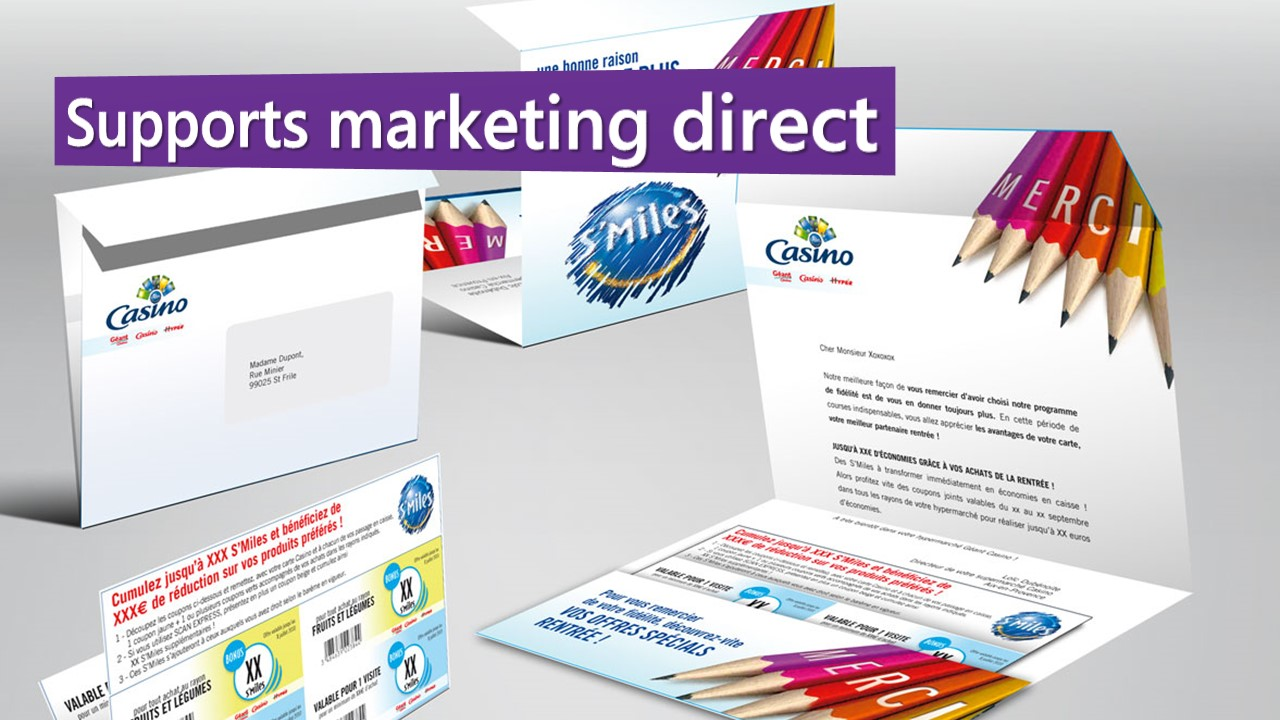 Supports marketing direct