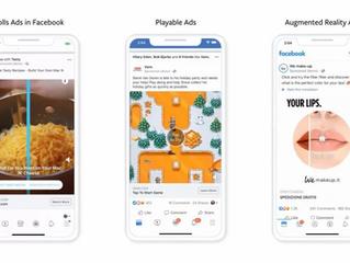 Facebook : 3 nouveaux formats publicitaires vont être déployés
