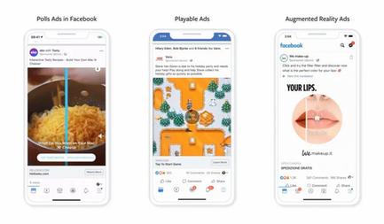 Copie de Facebook : 3 nouveaux formats publicitaires vont être déployés