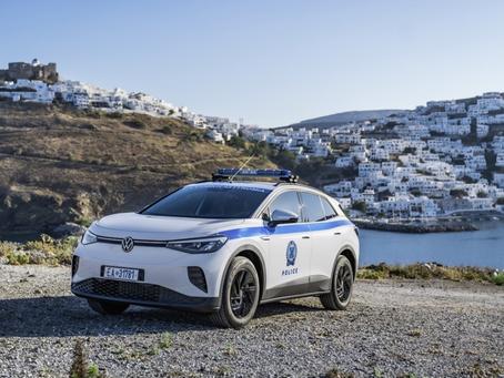 VW : La Police de l''île Grecque Astypalée roule écolo