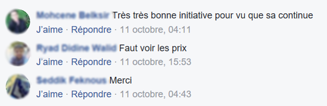 Commentaire FB sur les pages auto