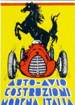 Auto Avio Costruzioni : l'avant Ferrari