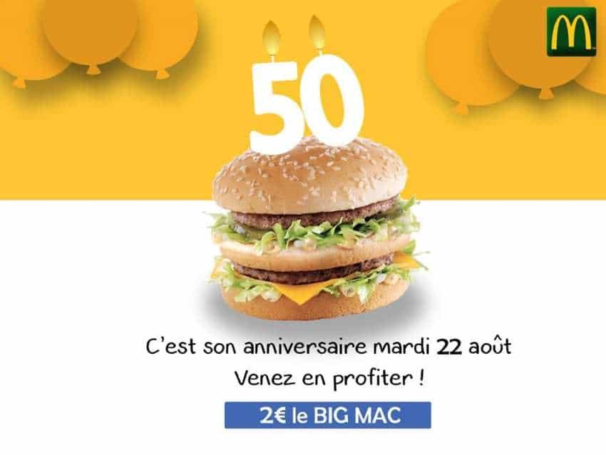 bic-mac 2 étages pour 2 euro