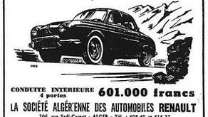 Affiche de la Sté Algérienne des Automobiles Renault | 1958