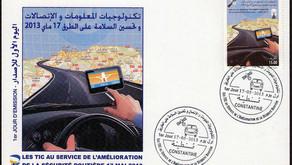 Timbre poste à l'effigie des TIC au service de la sécurité routière en Algérie