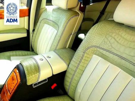 Une Rolls-Royce saisie par les Douanes italiennes en raison de son cuir de crocodile