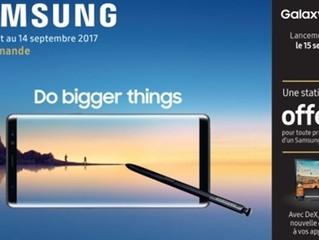 Samsung : offre son nouveau Galaxy Note 8 à 200 passagers d'un vol d'avion