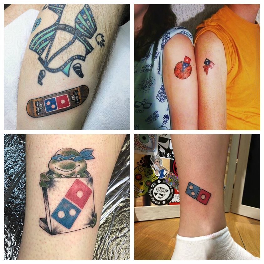 Tatouage Domino's pizza