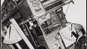 Tests d'inclinaison des bus à deux étages. Avril 1933. Londres