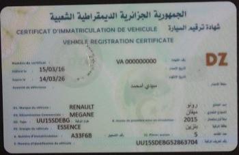 Formalités administratives pour la délivrance du certificat d'immatriculation de véhicule