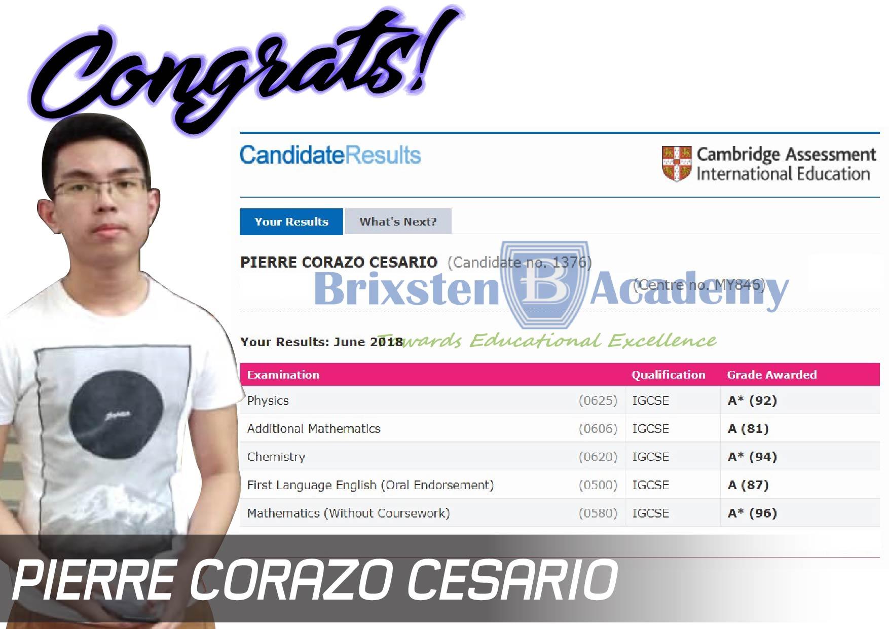PIERRE CORAZO CESARIO