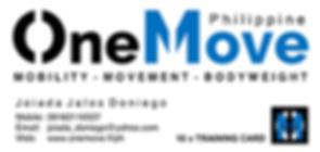 OneMove Philippine Training card front_J