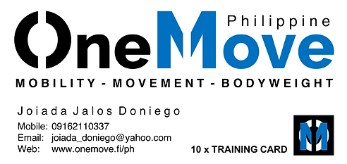 OneMove Philippine Training card front_J